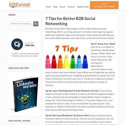 7 Tips for Better B2B Social Networking