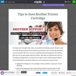 Tips to Save Brother Printer Cartridge