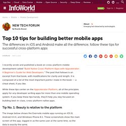 Top 10 tips for building better mobile apps