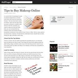 Tips to Buy Makeup Online