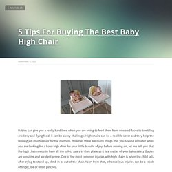 5 Tips For Buying The Best Baby High Chair