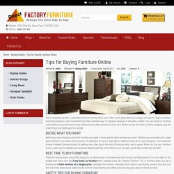Tips for Buying Furniture Online
