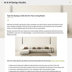 Tips for Buying a Sofa Set for Your Living Room