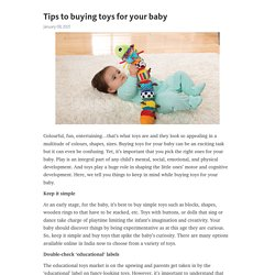 Tips to buying toys for your baby – Telegraph