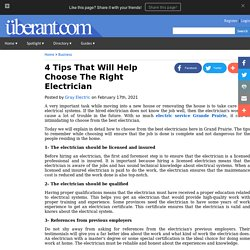 4 Tips That Will Help Choose The Right Electrician