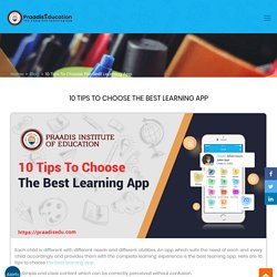 10 Tips To Choose The Best Learning App