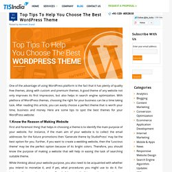 Expert tips for selecting the perfect theme for your website/blog