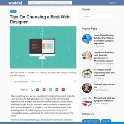Tips On Choosing a Best Web Designer