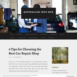 Choosing the Best Car Repair Shop