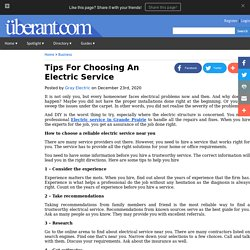 Tips For Choosing An Electric Service