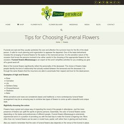 Tips for Choosing Funeral Flowers