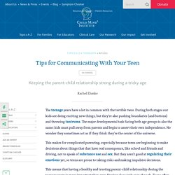 Tips for Communicating With Your Teen