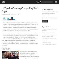 10 Tips for Creating Compelling Web Copy