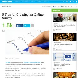 5 Tips for Creating an Online Survey