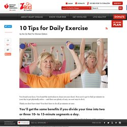 10 Tips for Daily Exercise