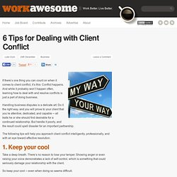 6 Tips for Dealing with Client Conflict