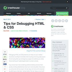 Tips for Debugging HTML & CSS