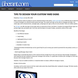 TIPS TO DESIGN YOUR CUSTOM YARD SIGNS