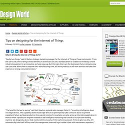Tips on designing for the Internet of Things