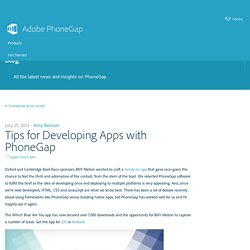 Tips for Developing Apps with PhoneGap