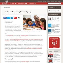 10 Tips for Developing Student Agency