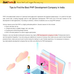 Compelling Reasons to Choose the Best PHP Development Company in India