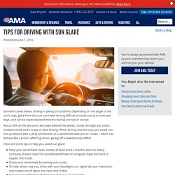 Tips for Driving With Sun Glare - AMA