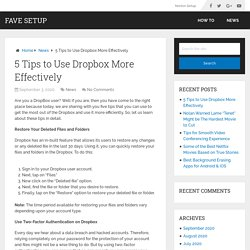 5 Tips to Use Dropbox More Effectively - Fave Setup