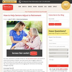 Tips to Help Elderly Adjust to Retirement