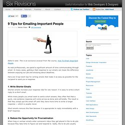 9 Tips for Emailing Important People