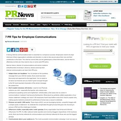7 PR Tips for Employee CommunicationsPR News
