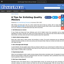 6 Tips for Enlisting Quality Movers