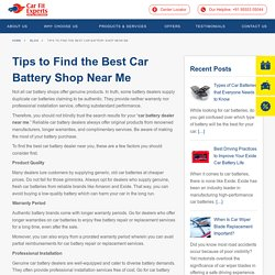 Tips to Find the Best Car Battery Shop Near Me · Carfit