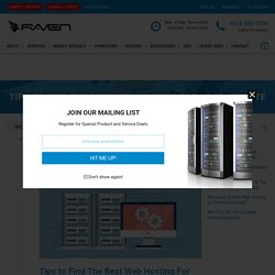 Tips to Find The Best Web Hosting For Your Website