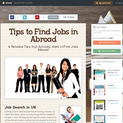 Tips to Find Jobs in Abroad