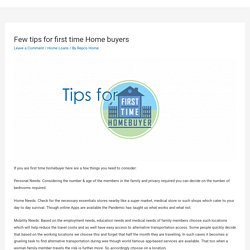 Few tips for first time Home buyers – Repco Home