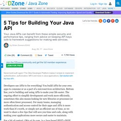 5 Tips for Building Your Java API