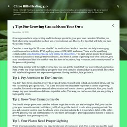 5 Tips For Growing Cannabis on Your Own
