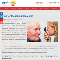 Tips for Managing Glaucoma