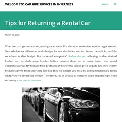 Tips for Returning a Rental Car