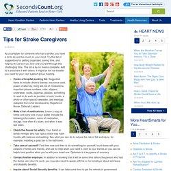 Tips for Stroke Caregivers
