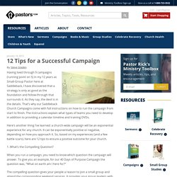 12 Tips for a Successful Campaign