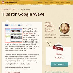 Tips for Google Wave - Flock