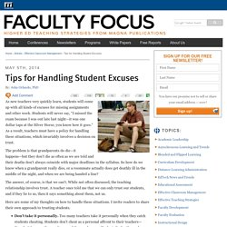 Tips for Handling Students Excuses
