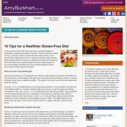 10 tips for healthier gluten free diet
