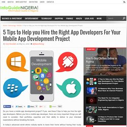 5 Tips to Help you Hire the Right App Developers