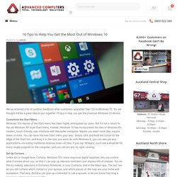 10 Tips to Help You Get the Most Out of Windows 10 -