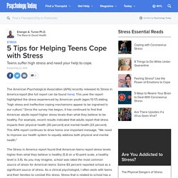 5 Tips for Helping Teens Cope with Stress