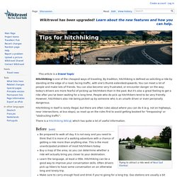 Tips for hitchhiking