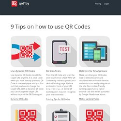 9 Tips how to use QR Codes